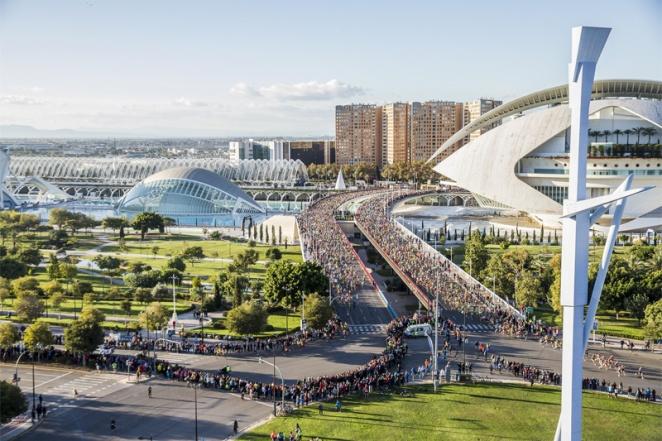 La Cité des arts et des sciences, écrin du marathon de Valence - crédit photo : Maratón Valencia