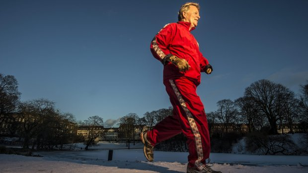 A 70 ans passés, Peter Schnohr court encore. Deux fois par semaine. Crédit photo : b.dk